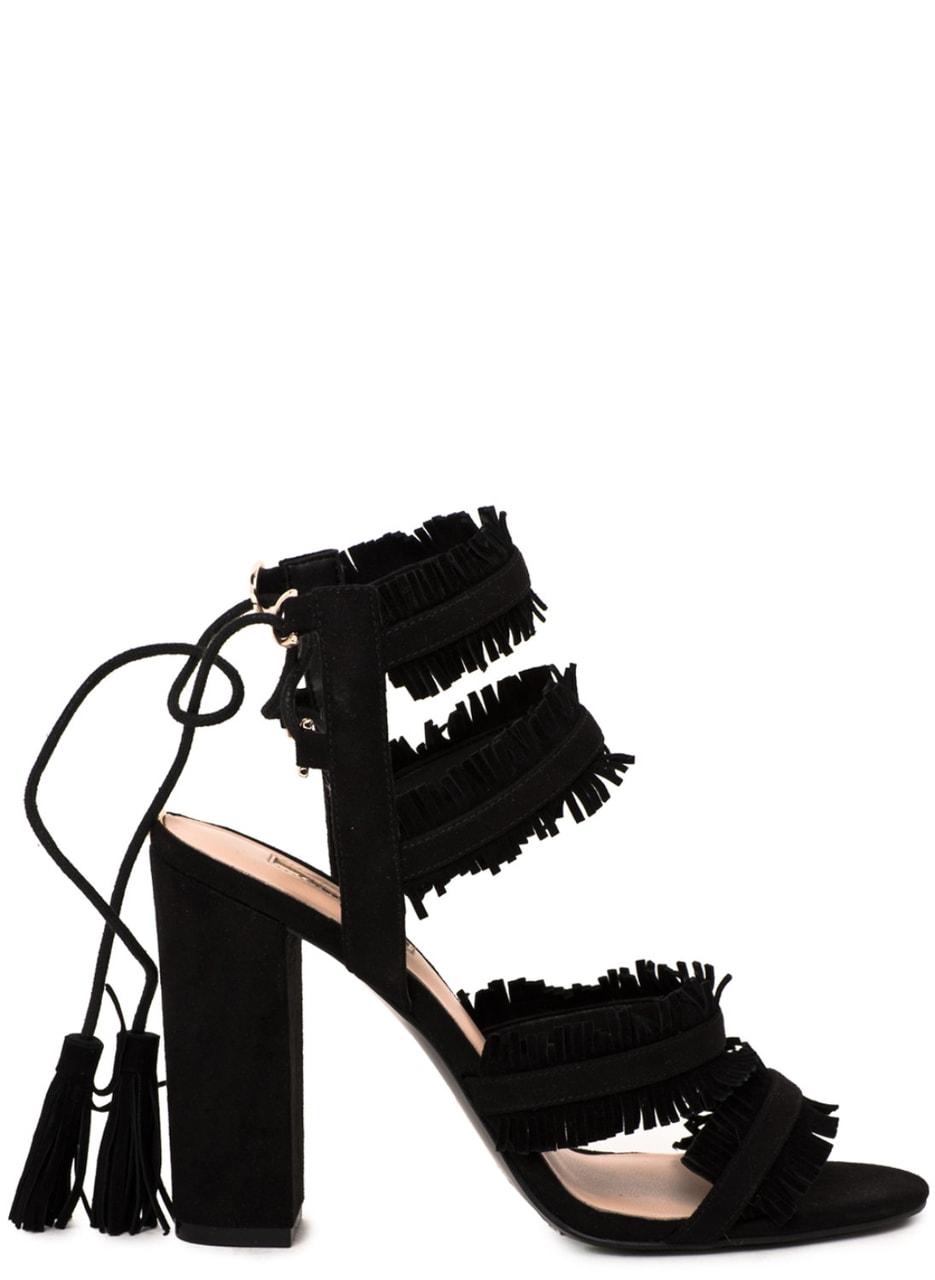 Glamadise.sk - Guess sandále třásňaté čierne - Guess - Sandále ... 96418d8283