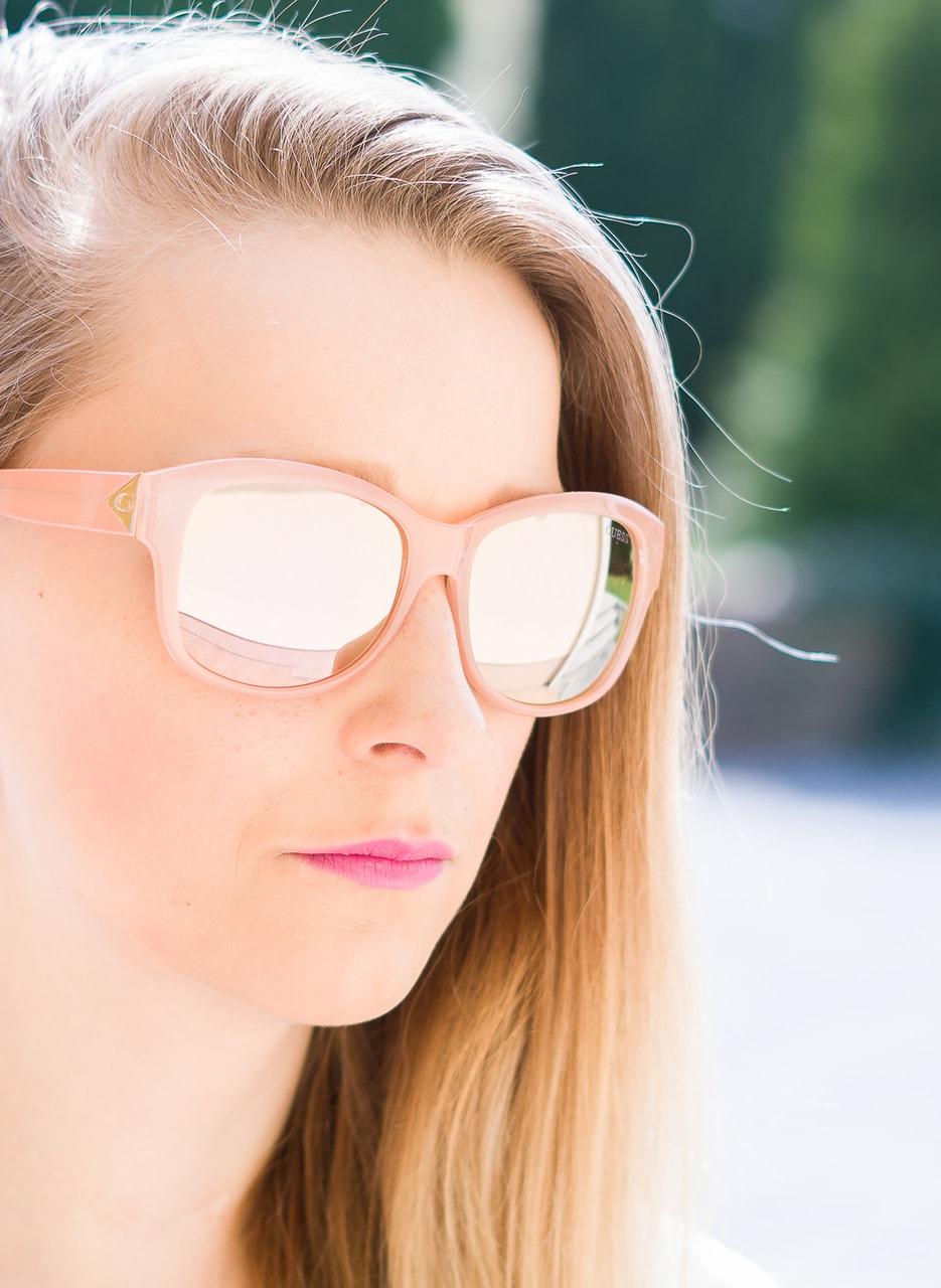 Glamadise.sk - Guess slnečné okuliare ružové - Guess - Dámske ... 788c708e9fe