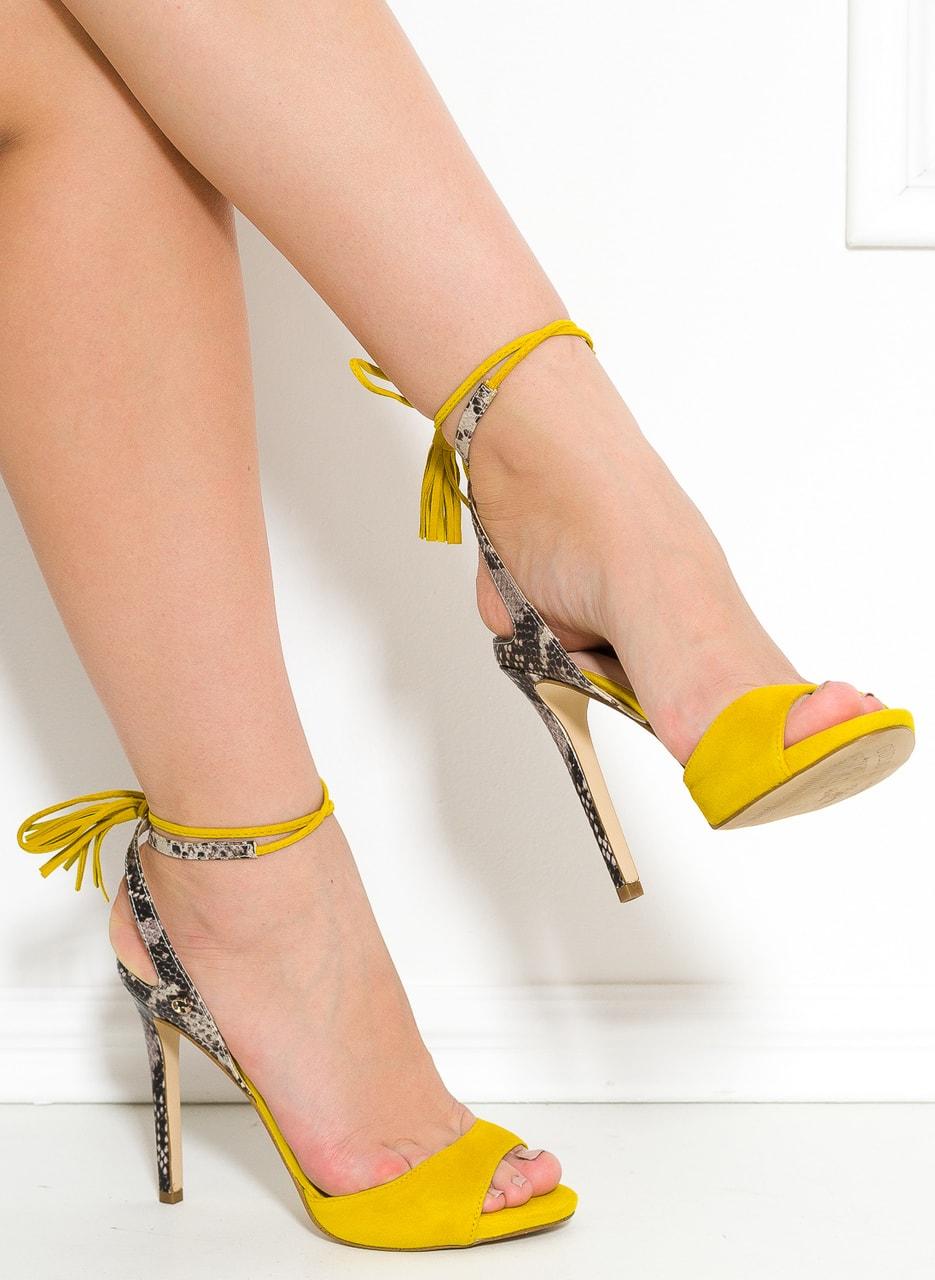 Glamadise Italian Fashion Paradise Guess High Heels Yellow Shoes Pretty