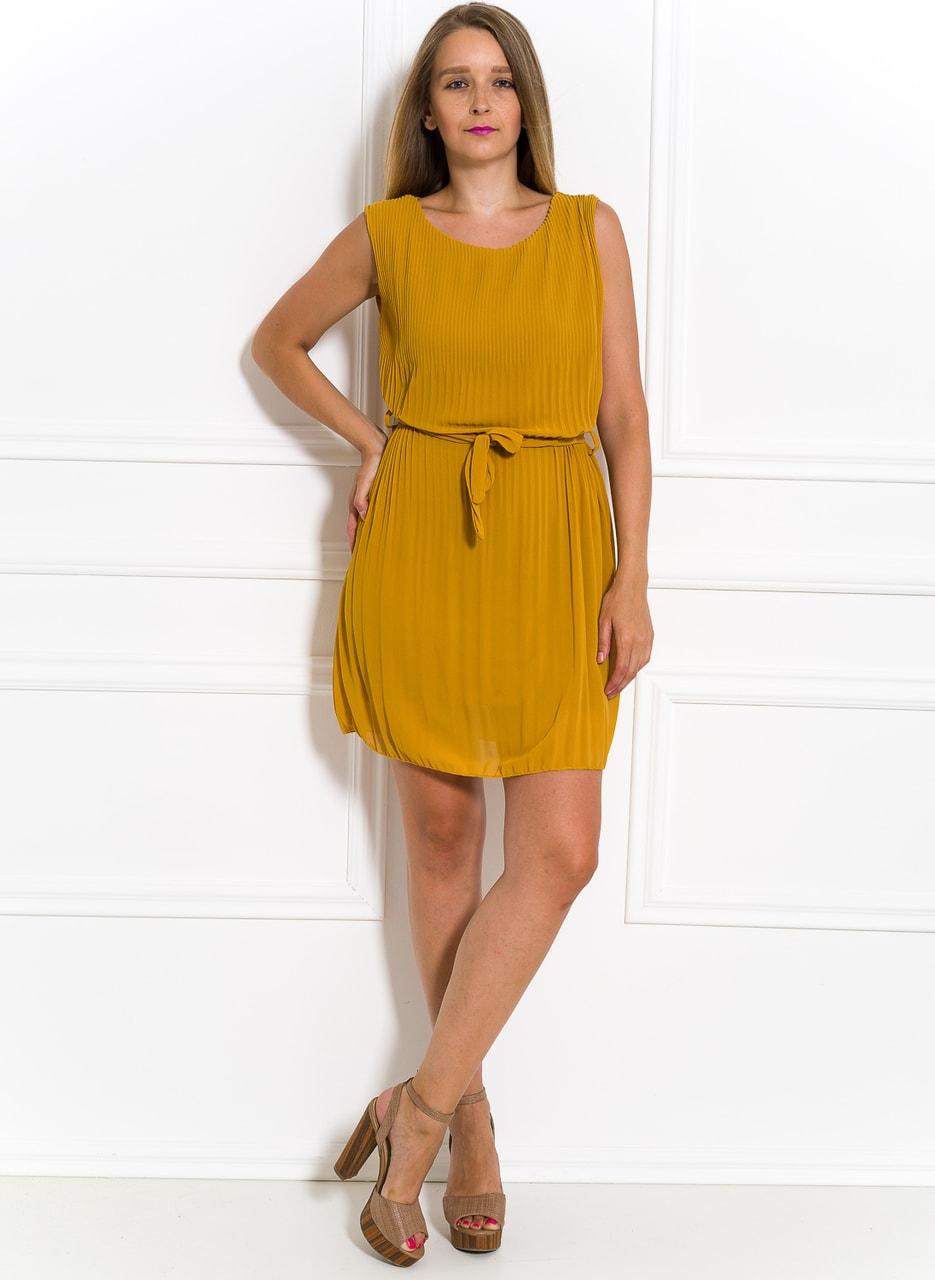 Šifonové letní šaty žluté plizované - Glamorous by Glam - Letní šaty ... 6d85a6fc4f