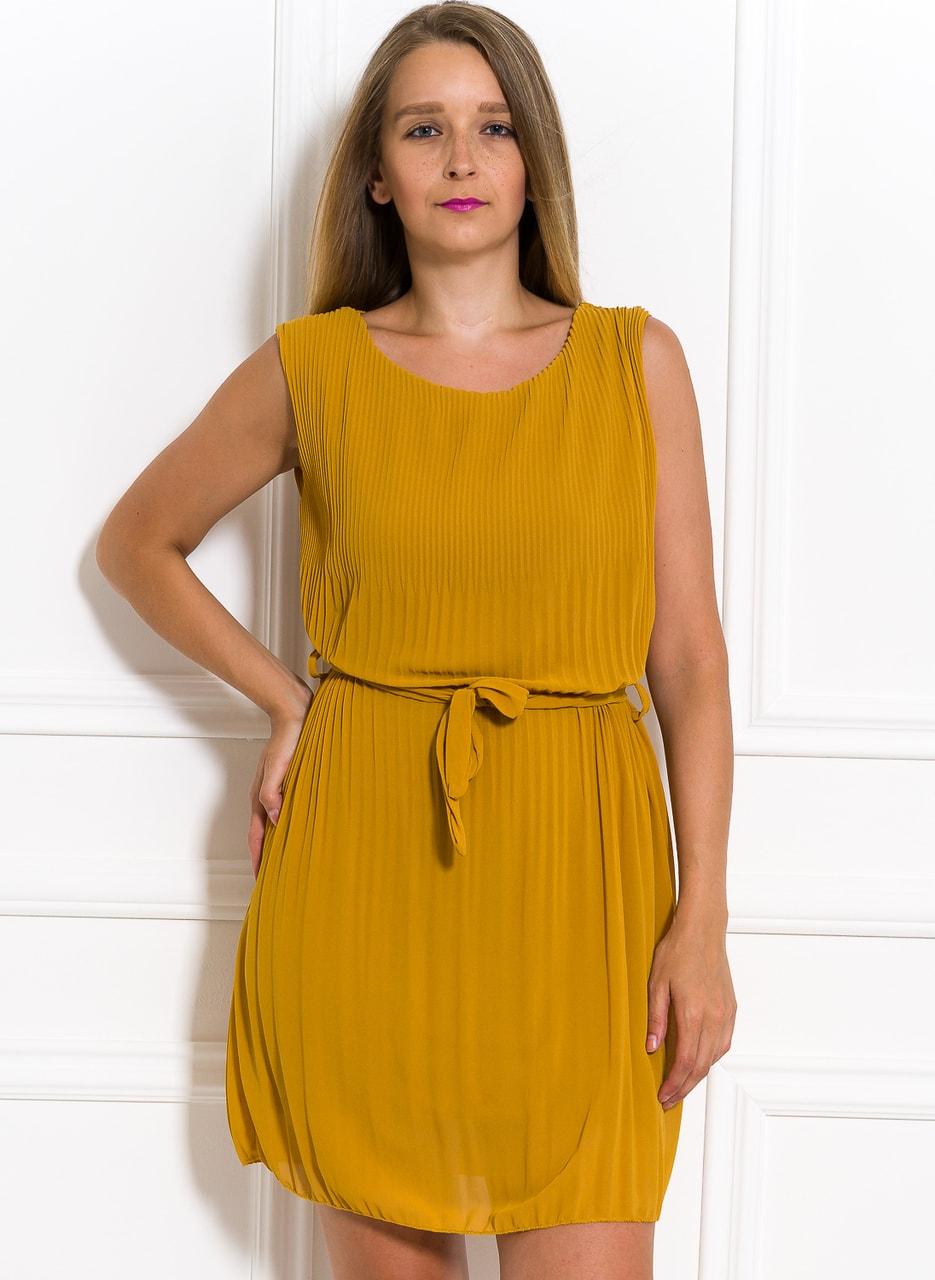Glamadise.sk - Šifónové letné šaty žlté plisované - Glamorous by ... d47492923e1