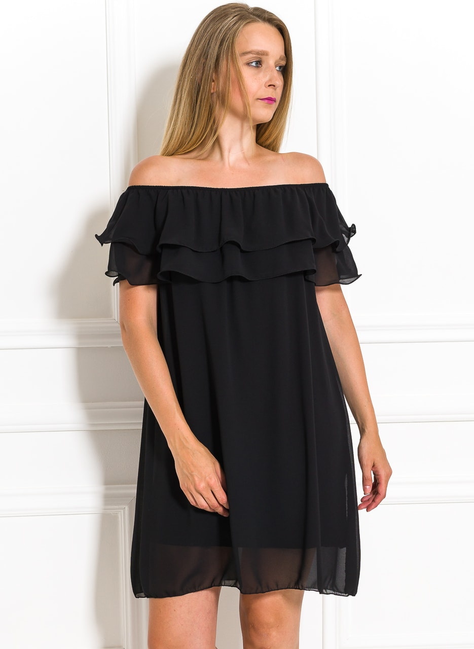 Dámské letní šaty s volánem černé - Glamorous by Glam - Letní šaty ... 61d96c6451