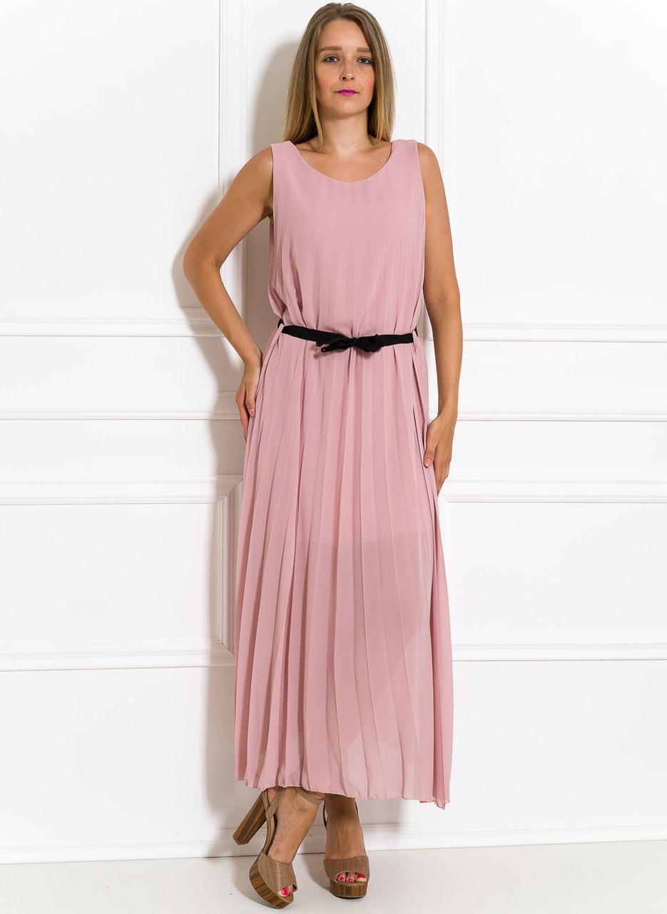 Glamadise.sk - Dlhé šaty svetlo ružové plisované - Glamorous by Glam ... 485016a9949