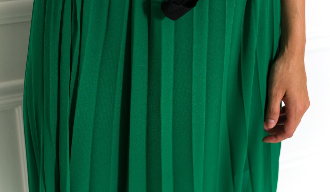 Dlouhé šaty zelené plizované - Glamorous by Glam - Letní šaty - Šaty ... e19c95a6da