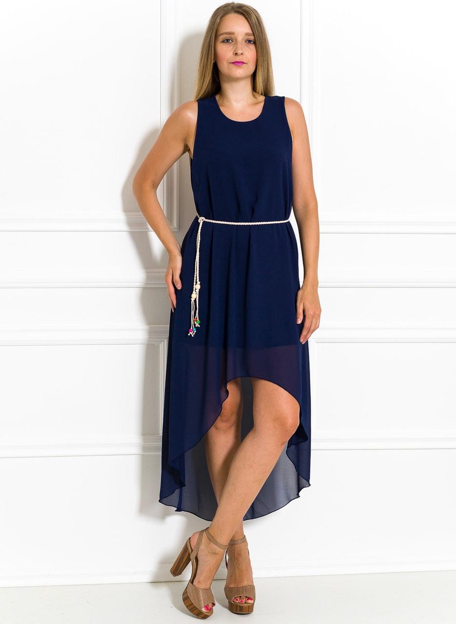 Dámské letní šaty asymetrické tmavě modré - Glamorous by Glam ... 5b3debd96b