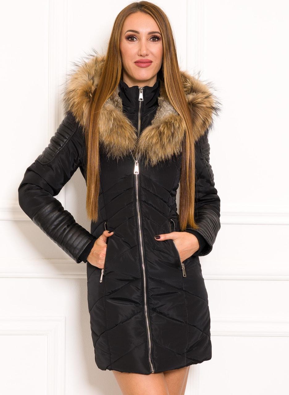 Glamadise.sk - Dámska dlhšia zimná bunda s pravým králikom a ... 52d1749daaf