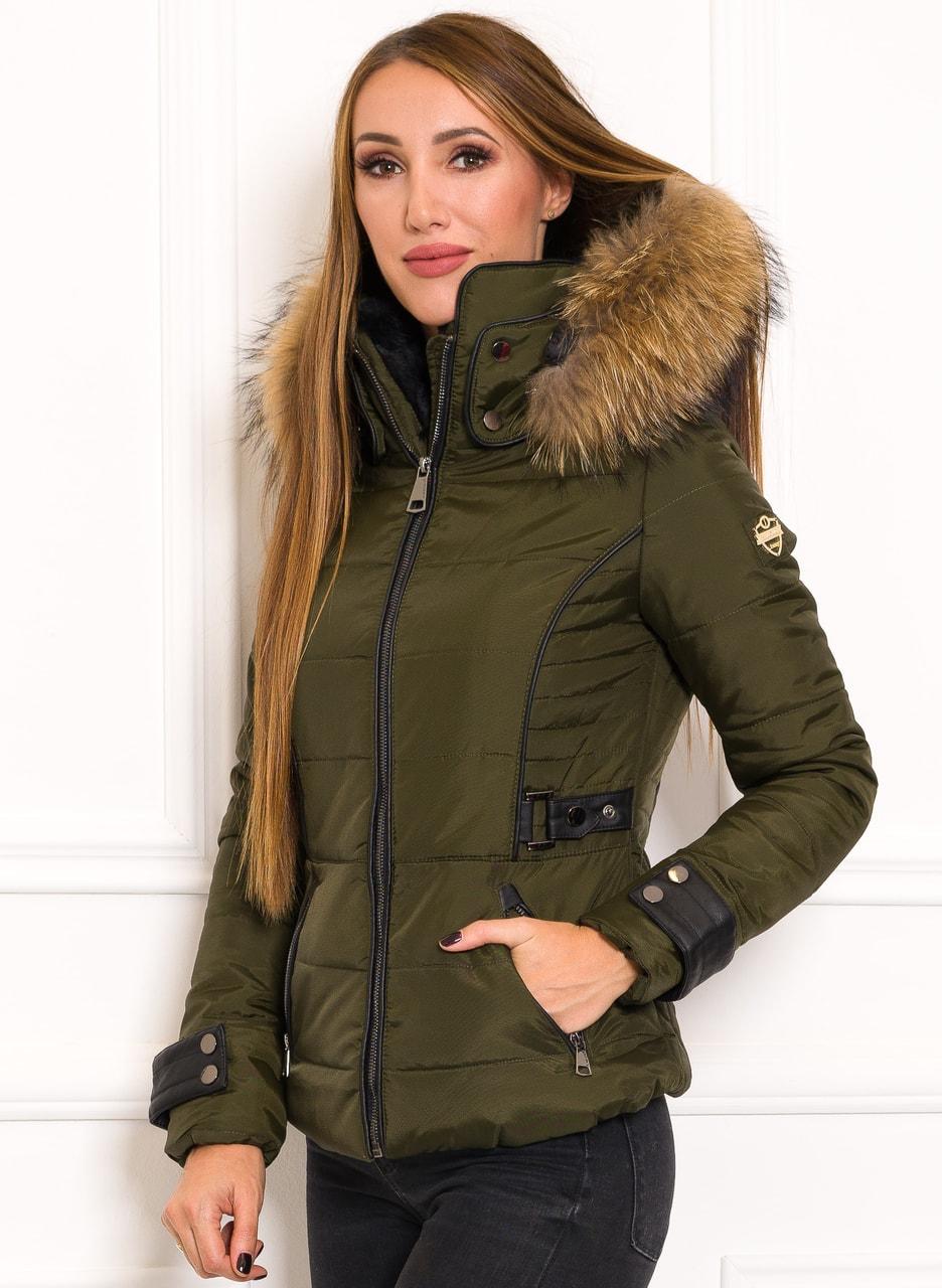 Glamadise.hu Fashion paradise - Női téli kabát eredeti rókaszőrrel ... 44adeb5ba2
