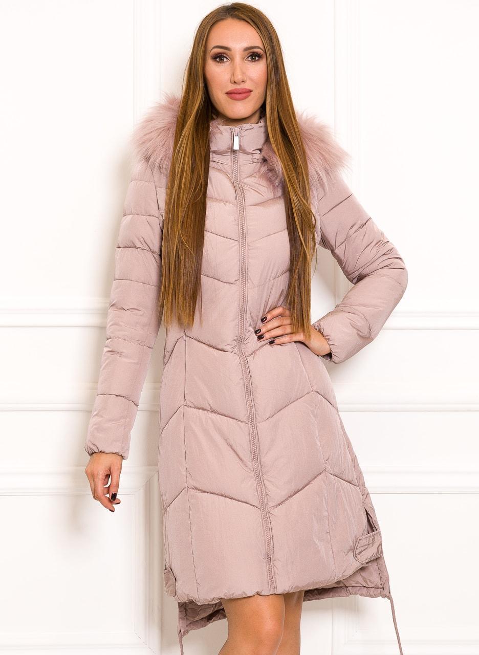 Glamadise.hu Fashion paradise - Női téli kabát Due Linee - Rózsaszín ... 186d0936fe