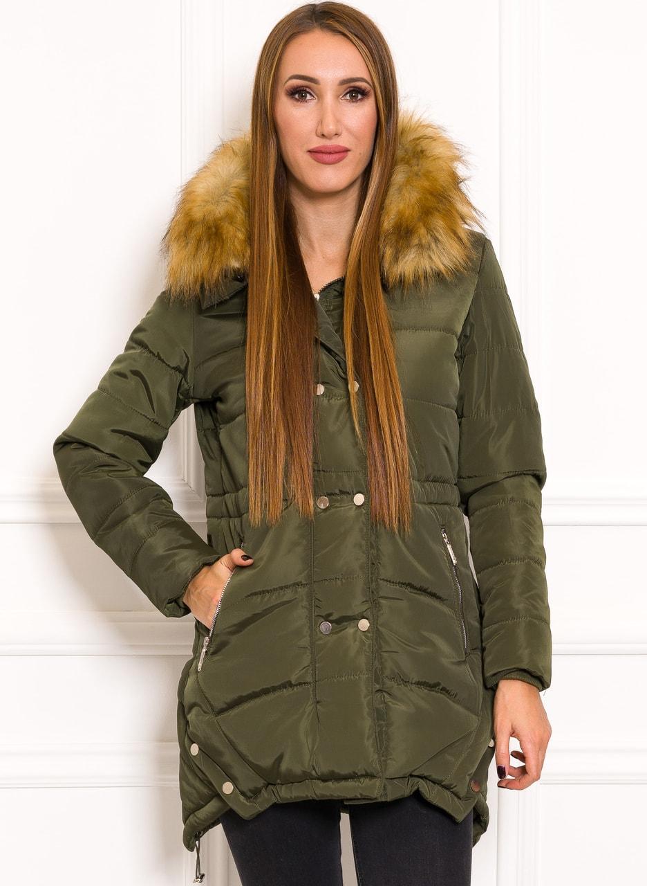 ce3eb741da Glamadise.hu Fashion paradise - Női téli kabát Due Linee - Zöld ...