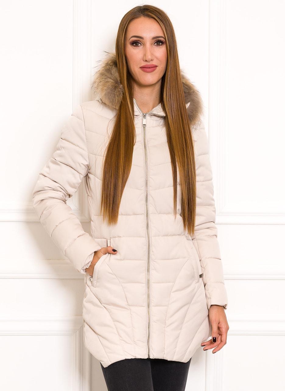5b9bd32111 Glamadise.hu Fashion paradise - Női téli kabát Due Linee - Créme ...