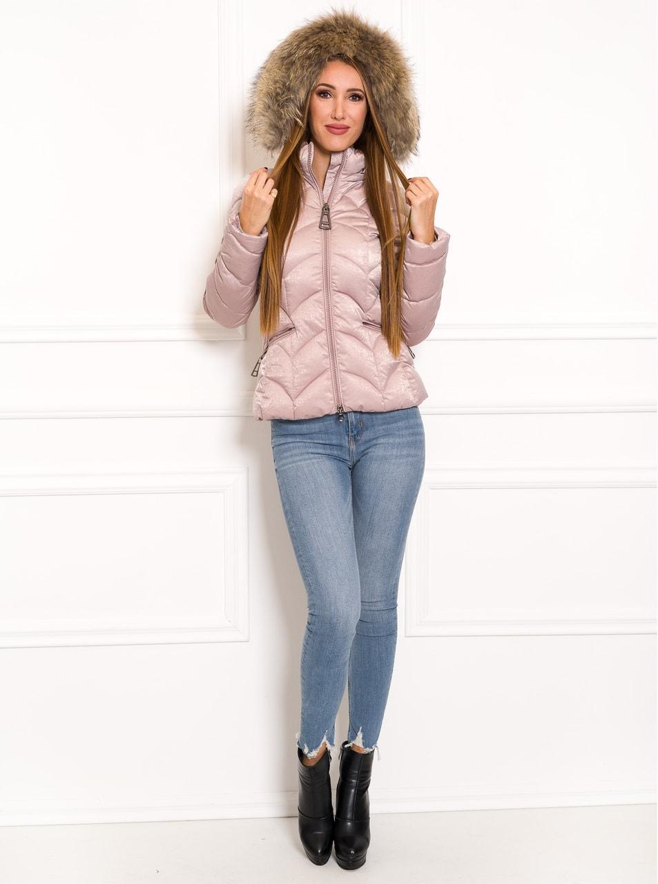 Glamadise.sk - Exkluzívna krátka zimná bunda s pravou kožušinou ... 549440b2963