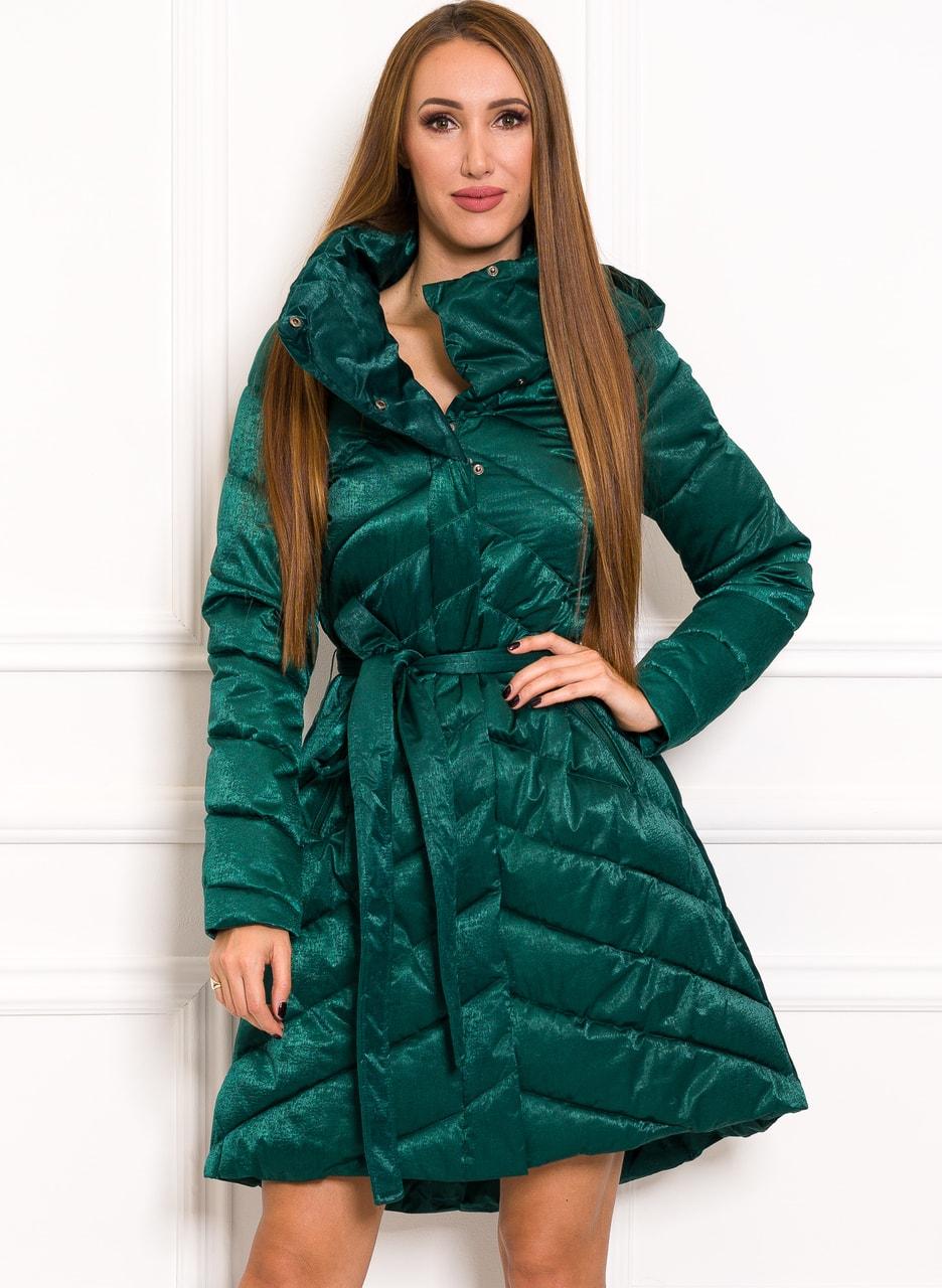 Glamadise.hu Fashion paradise - Női téli kabát Due Linee - Zöld ... 7f2e03f658