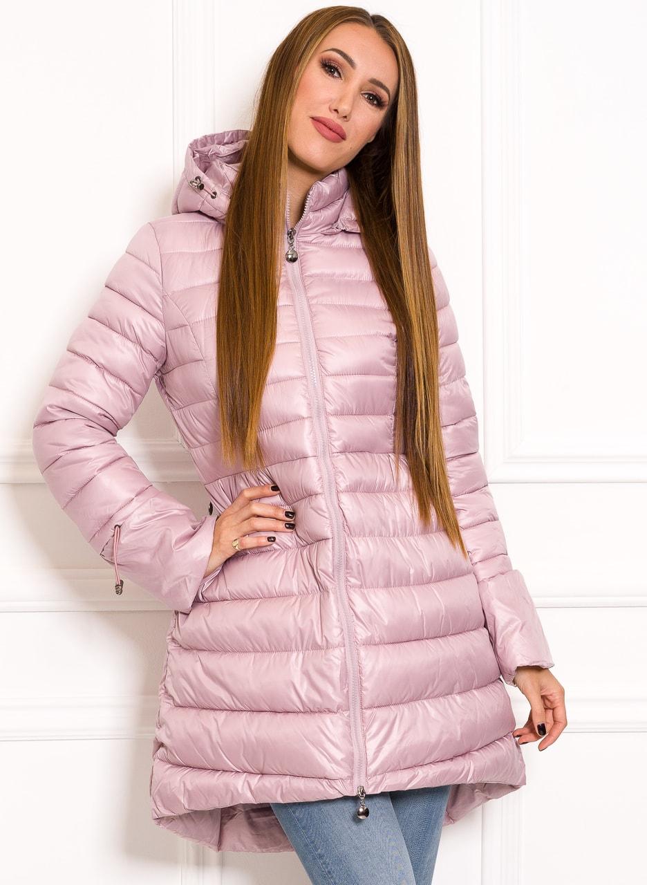 f7f4e1a39c Glamadise.hu Fashion paradise - Női téli kabát Due Linee - Rózsaszín ...