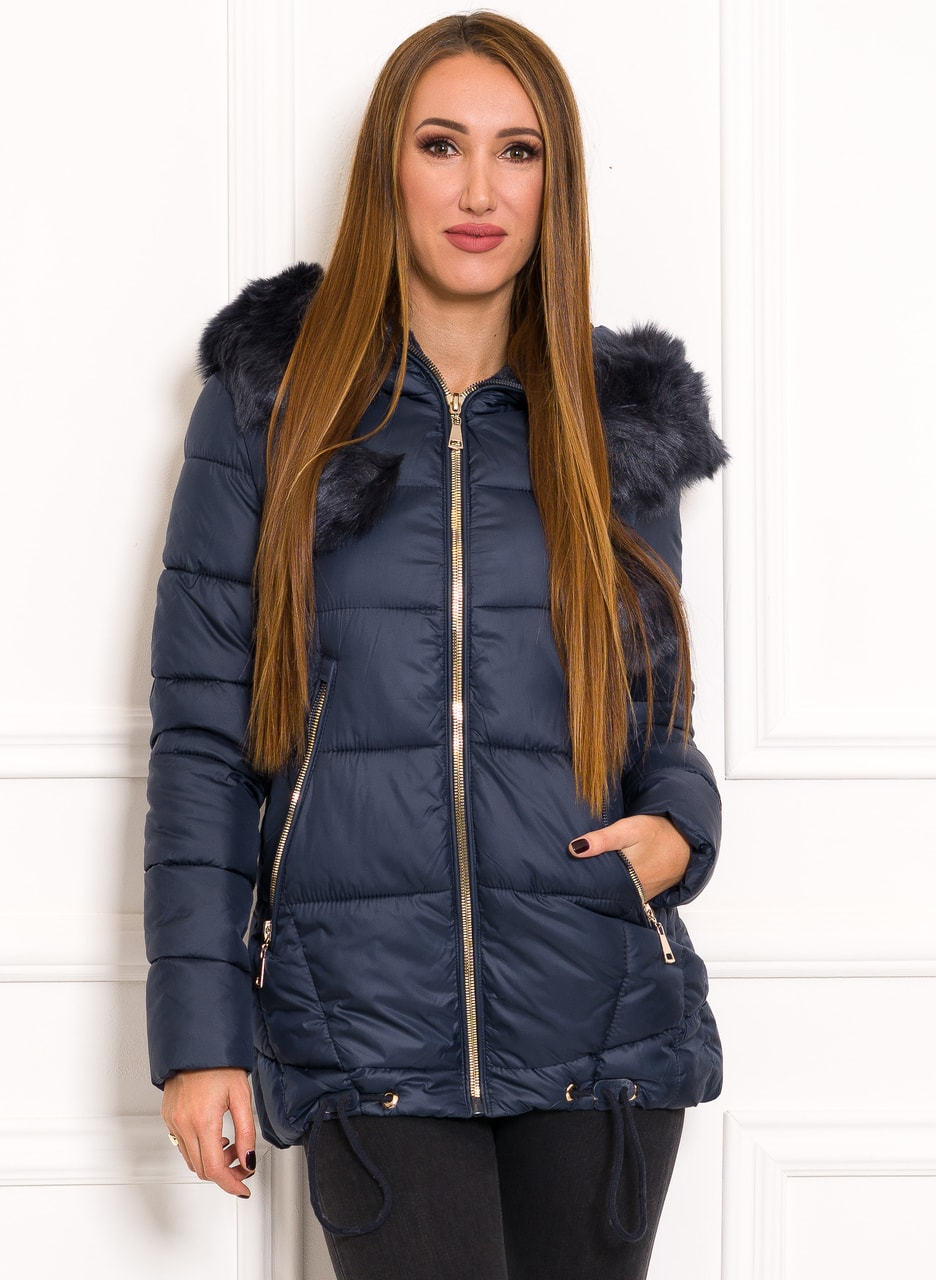 Glamadise.hu Fashion paradise - Női téli kabát Due Linee - Sötétkék ... fb14aeff88
