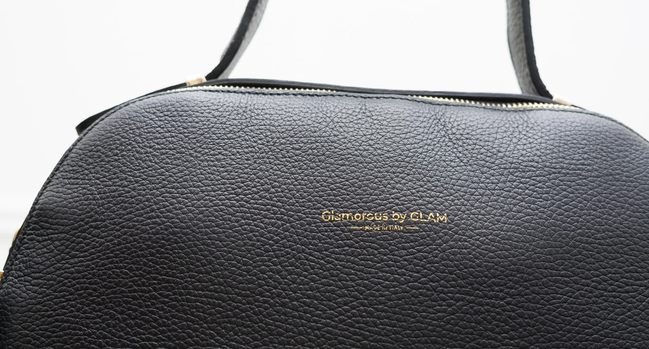 Women S Real Leather Handbag Glamorous By Glam Black
