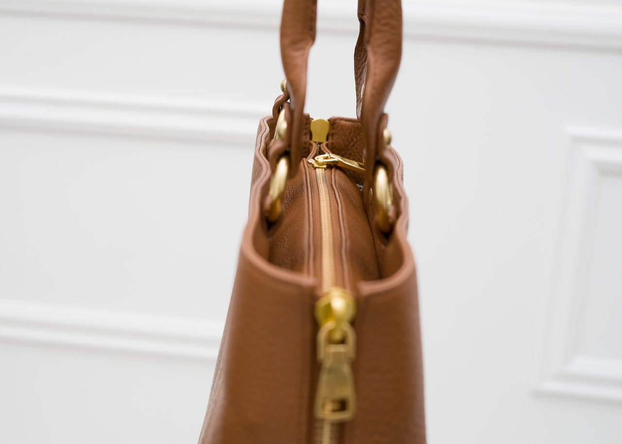 2234d2fe009b7 Glamadise.pl - Guess Luxe Damska skórzana torebka do ręki - brązowy ...