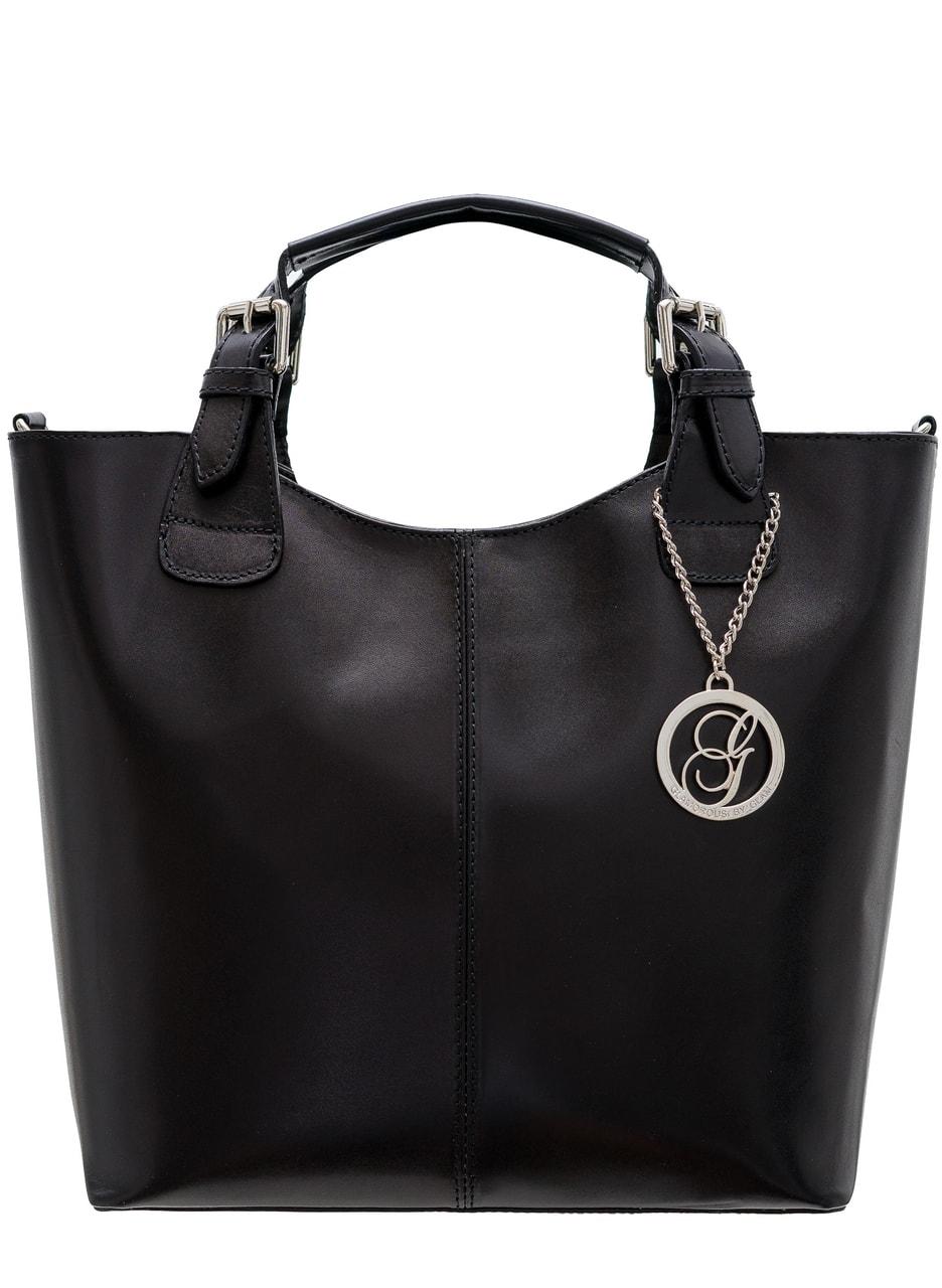 Glamadise.sk - Dámska kožená kabelka do ruky - čierna - Glamorous by ... 2a8bf3f6a46