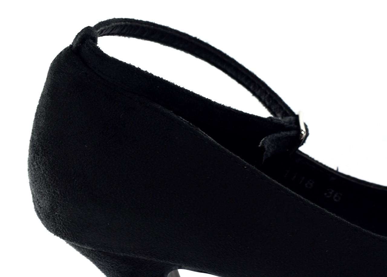 Dámské lodičky na platformě černé semišové - Glamorous by Glam ... bcf6eb5d68