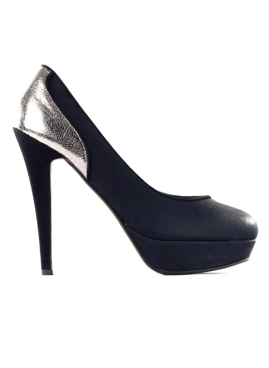 Dámské lodičky na platformě černé stříbrné - GLAM GLAMADISE shoes ... addb1abc875