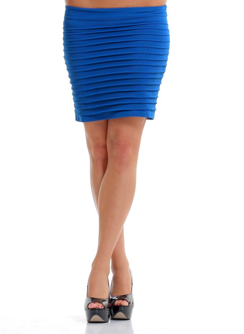 Glamadise.hu Fashion paradise - Női szoknya Glamorous by Glam - Kék ... d030d6fad4