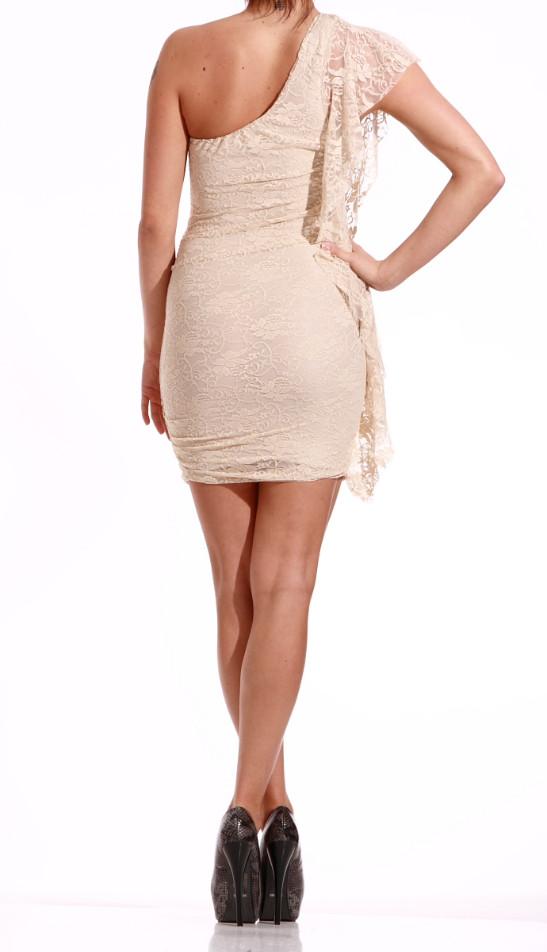 9b2886d532a Glamadise.sk - Dámske krajkové mini šaty béžovej - Glamorous by Glam ...