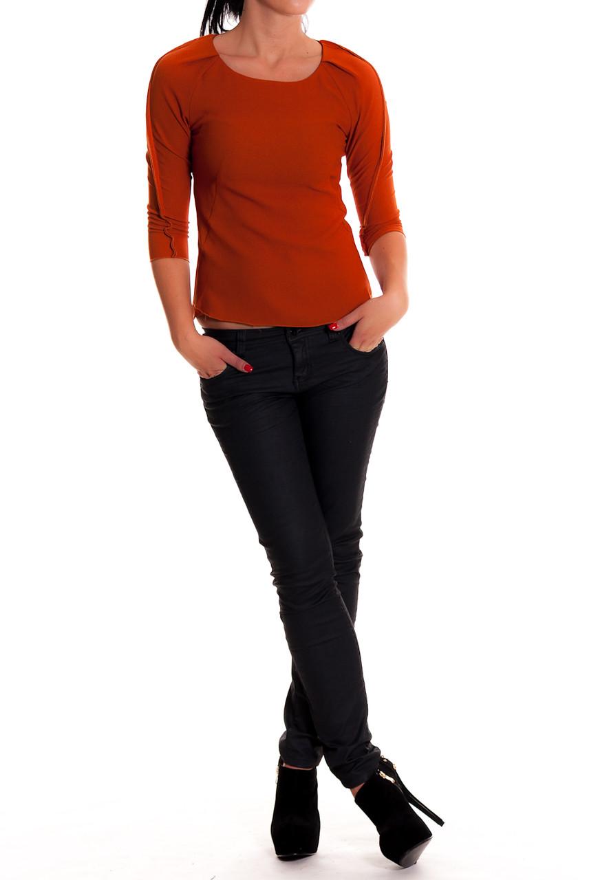 Glamadise.sk - -75% Dámske elegantné oranžové tričko - Nara.z - Topy ... aca383ba2e8