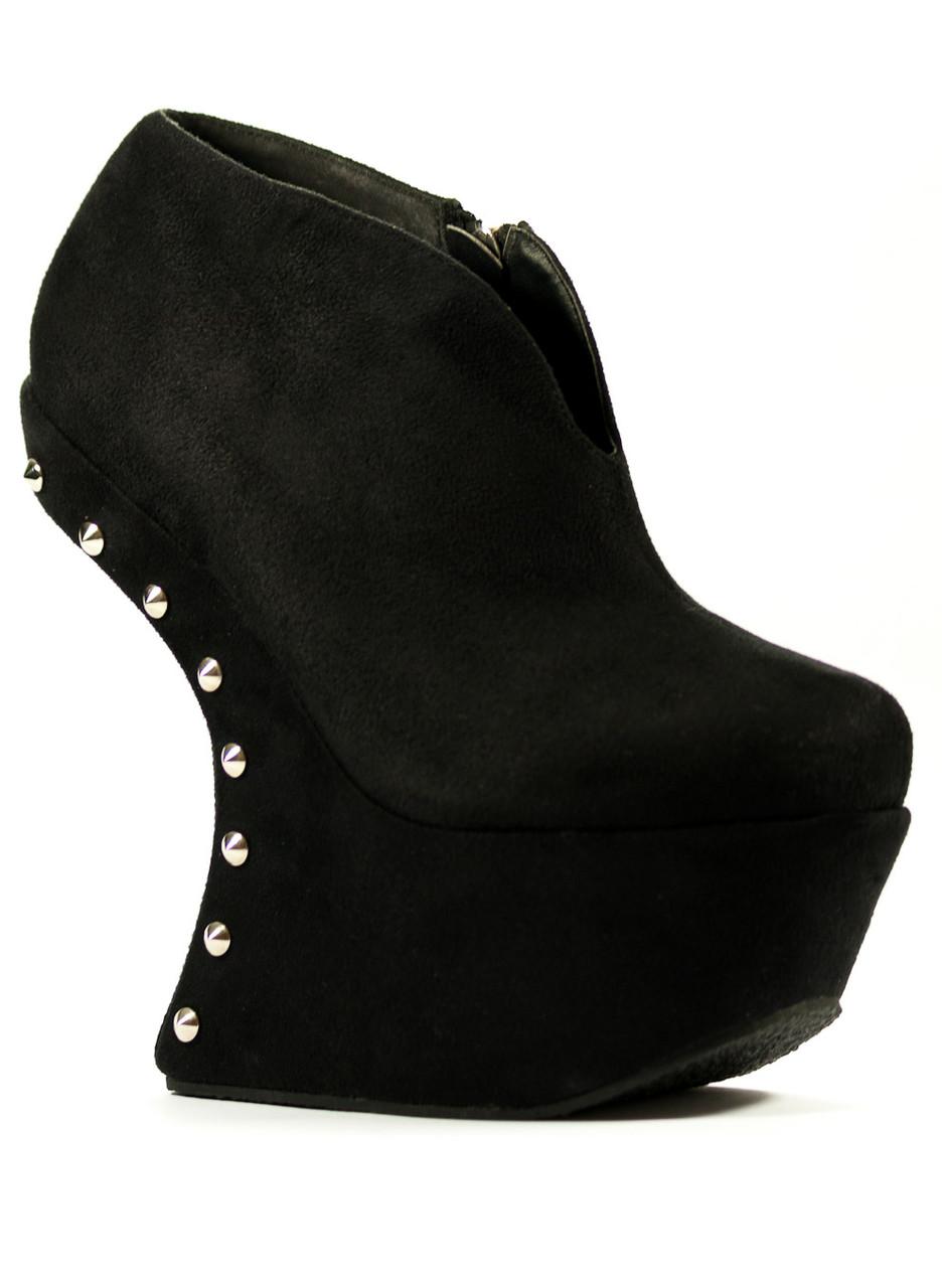 9078d6c876 Glamadise.sk - -50% Dámske topánky štýl Lady Gaga s ostňami čierne ...