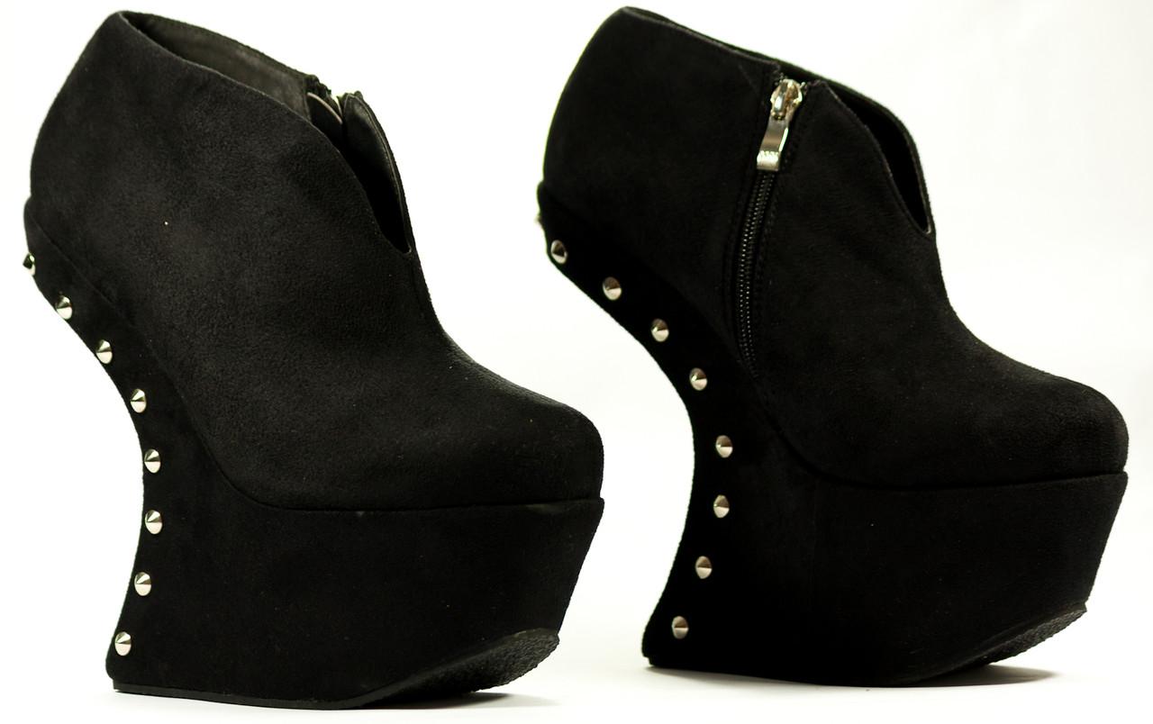-50% Dámské boty styl Lady Gaga s ostny černé 509e25afcf