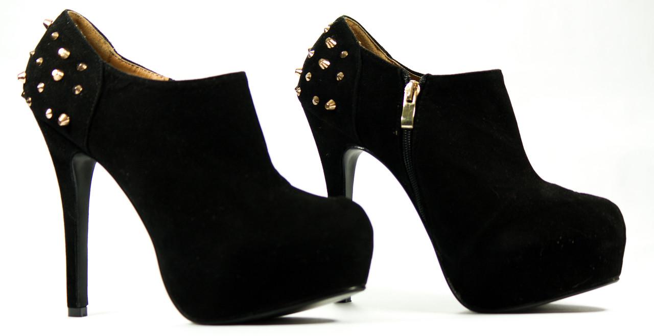 -50% Dámské kotníkové boty na platformě s ostny a46c0ffc94