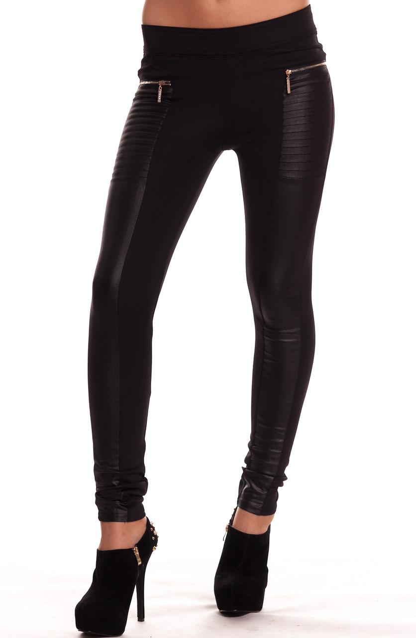 d7d8e81922e Dámské černé legíny se zipy - Glamorous by Glam - Legíny - Kalhoty ...