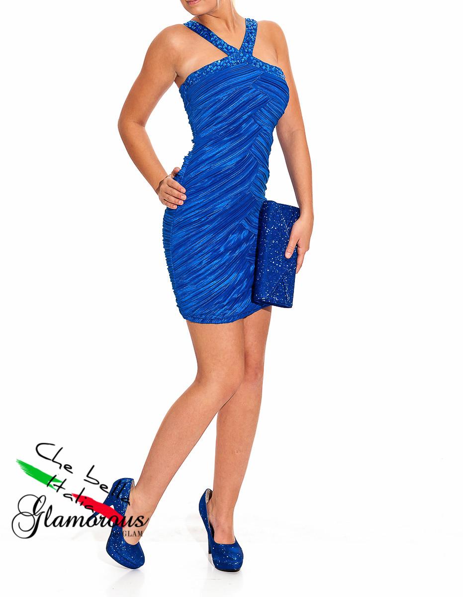 Glamadise.sk - -40% Dámske večerné šaty kráľovsky modrej - B.Pink ... 570a1dc21ca