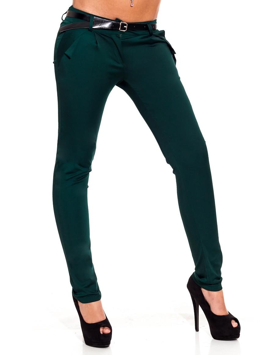 c018bfd5d15 Dámské elegantní kalhoty zelené - Glamorous by Glam - Kalhoty ...