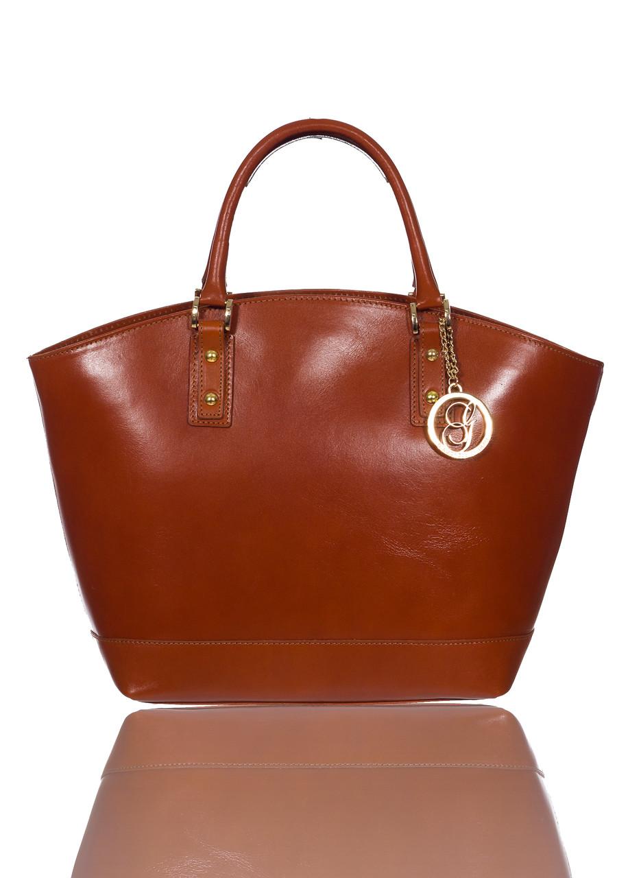 Glamadise.sk - Dámska kožená kabelka svetlo hnedá matná - Glamorous ... 1b6b0790988