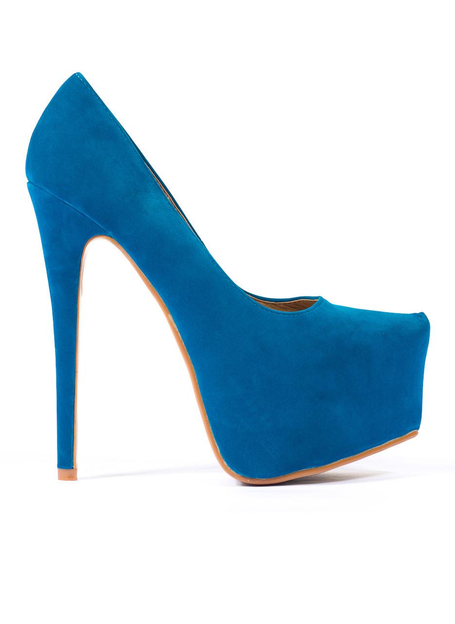 197f71574d7 Dámské lodičky na platformě semišové modré - GLAM GLAMADISE shoes ...