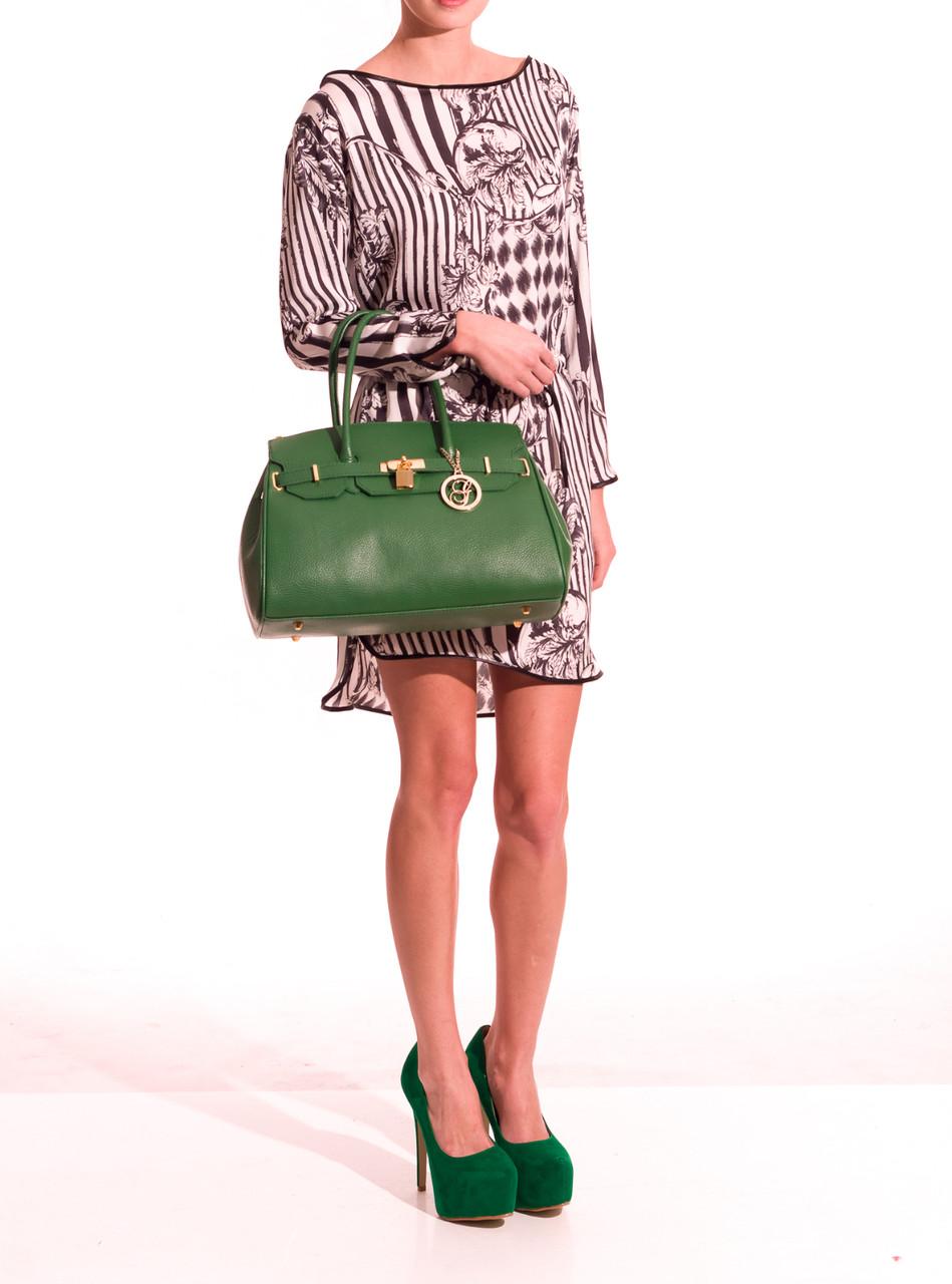 Glamadise.sk - GbyG talianska kabelka z pravý kože zelená ... 847aa2367f0