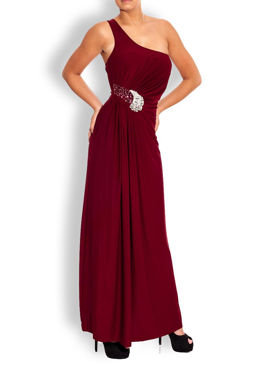 6c5781e5181 30% Dámské šaty dlouhé vínové - B.Pink Paris - Dlouhé šaty - Dámské ...