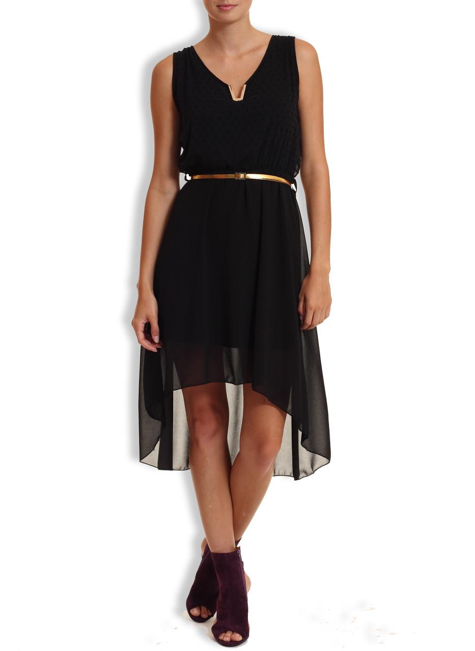 f08f92ca2c0 Letní šaty s puntíky a zlatým páskem černá - Glamorous by Glam ...