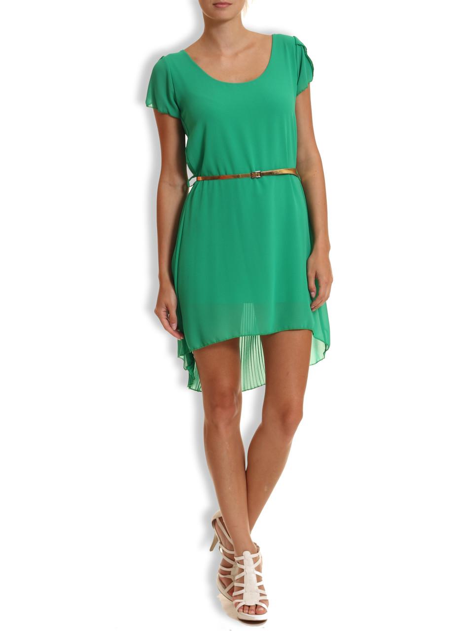 Letní šaty se zlatým páskem zelená - Glamorous by Glam - Šaty ... c4a838a182