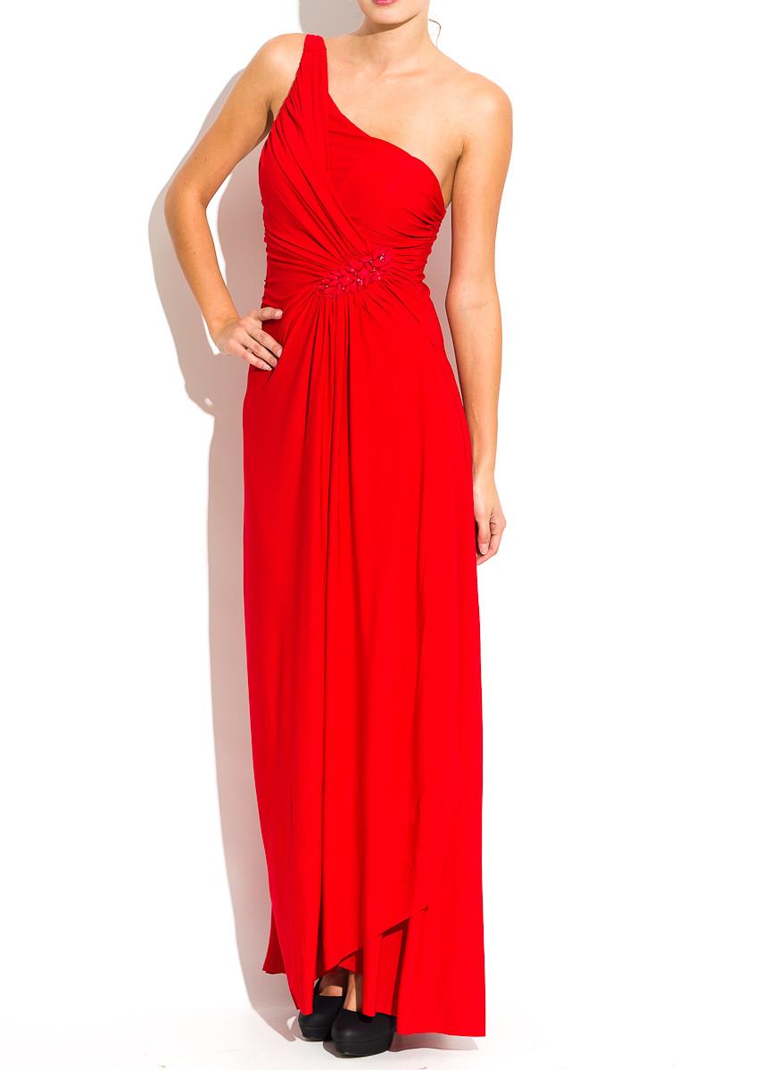 Glamadise.sk - Dlhé šaty červené s korálkami - Luccama - Dlhé šaty ... 0f9fbc0b56c