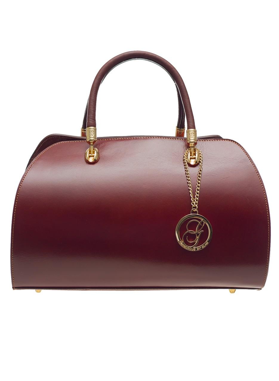Kožená kabelka matná celá hnědá - Glamorous by GLAM - Kožené kabelky ... 66437a7e87