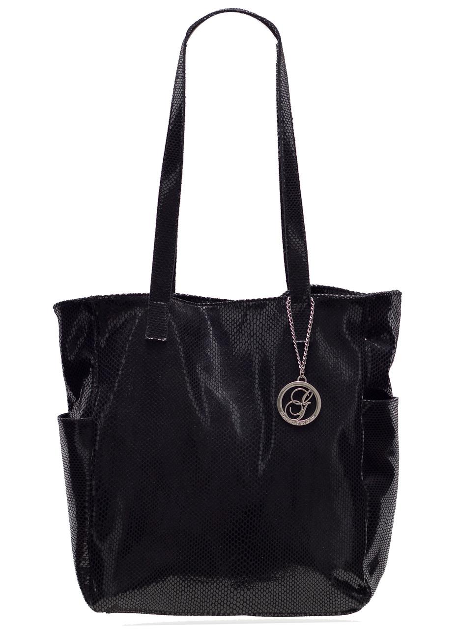 Glamadise.sk - Kožená kabelka cez rameno s hadím vzorom-čierna ... 6c189745e84
