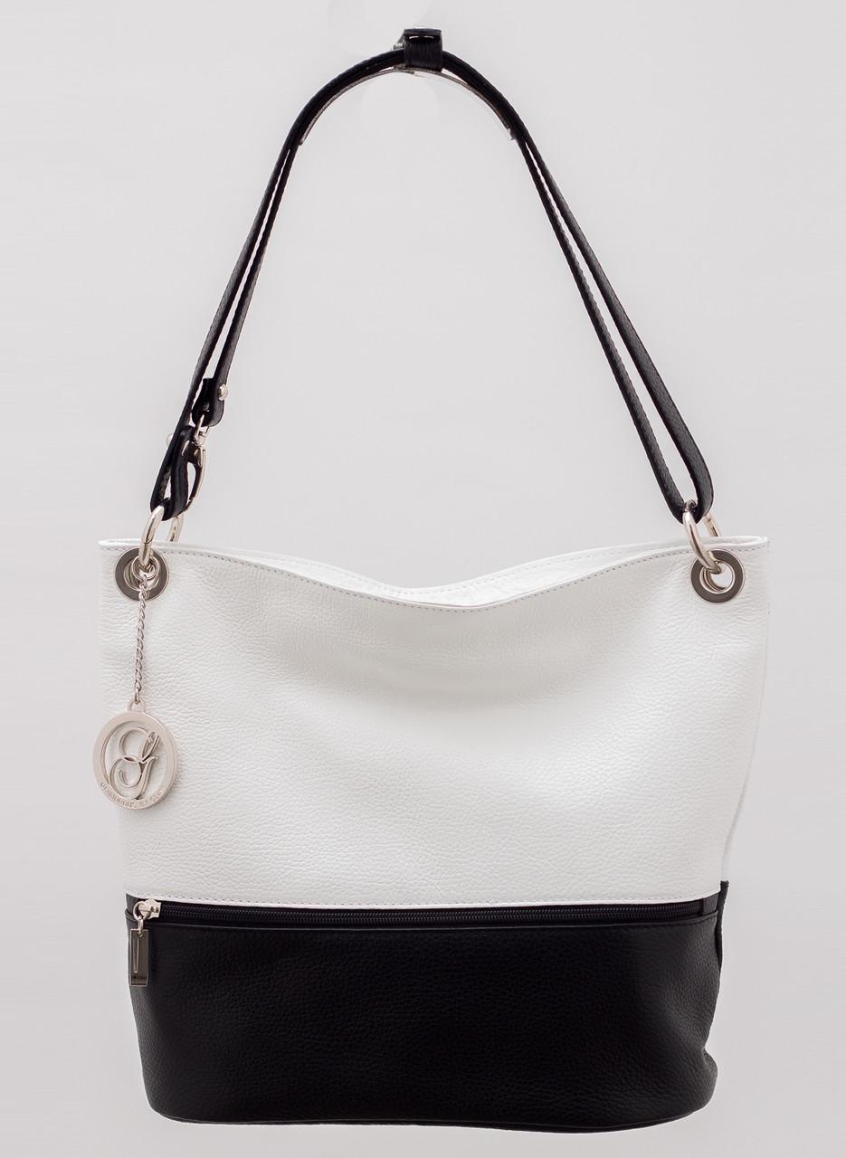 Glamadise.sk - Kožená kabelka variabilný čierno - biela - Glamorous ... 01287e155f1