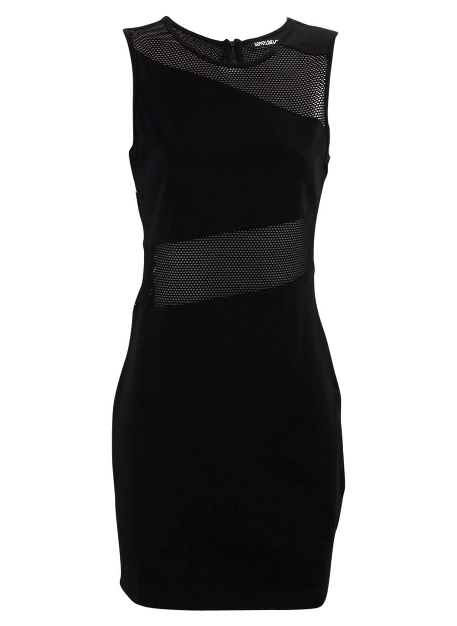 Glamadise.sk - Čierne sieťované šaty - Šaty - Dámske oblečenie ... 12b16a7d679
