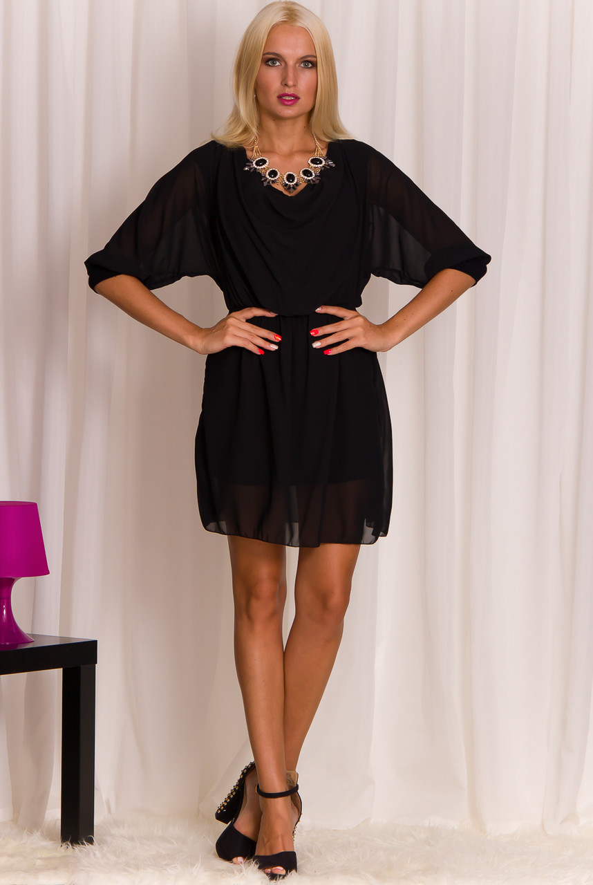 2a2f2116167d Glamadise.sk - Dámske šaty s dlhým rukávom čierne - Glamorous by ...