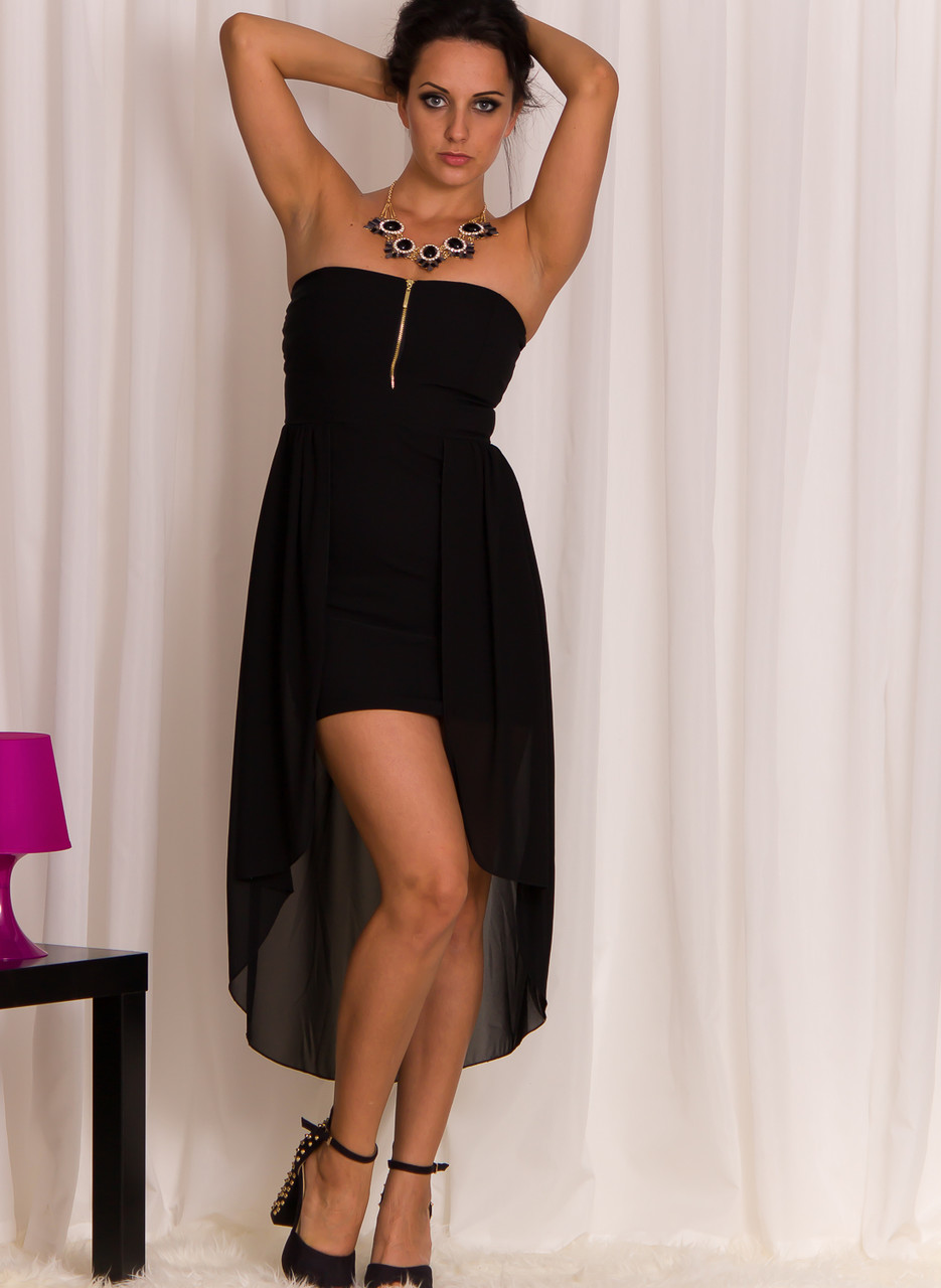 Dámské moderní šaty s průstřihy černé - Glamorous by Glam - Dlouhé ... af2d443c2b4