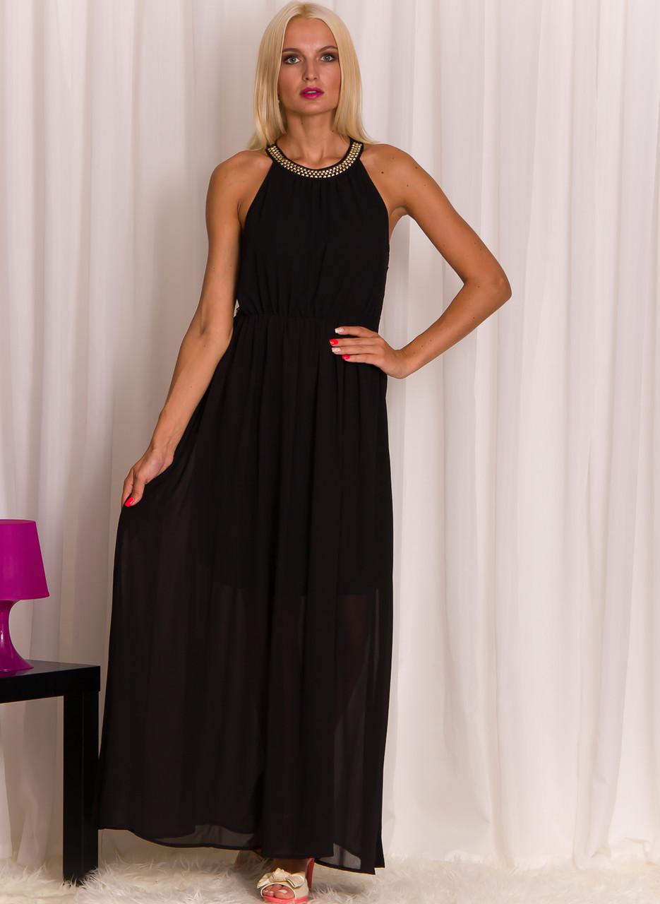 Glamadise.sk - Dlhé letné šaty s pyramídky čierne - Glamorous by ... 6959672212c