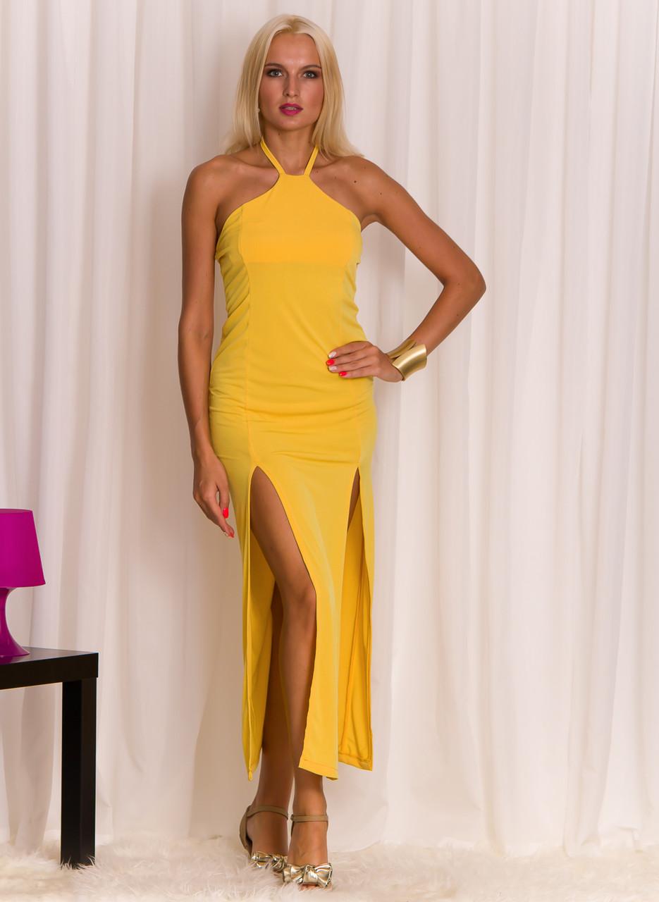 Dlouhé letní šaty žluté - Glamorous by Glam - Letní šaty - Šaty ... 49b5864627