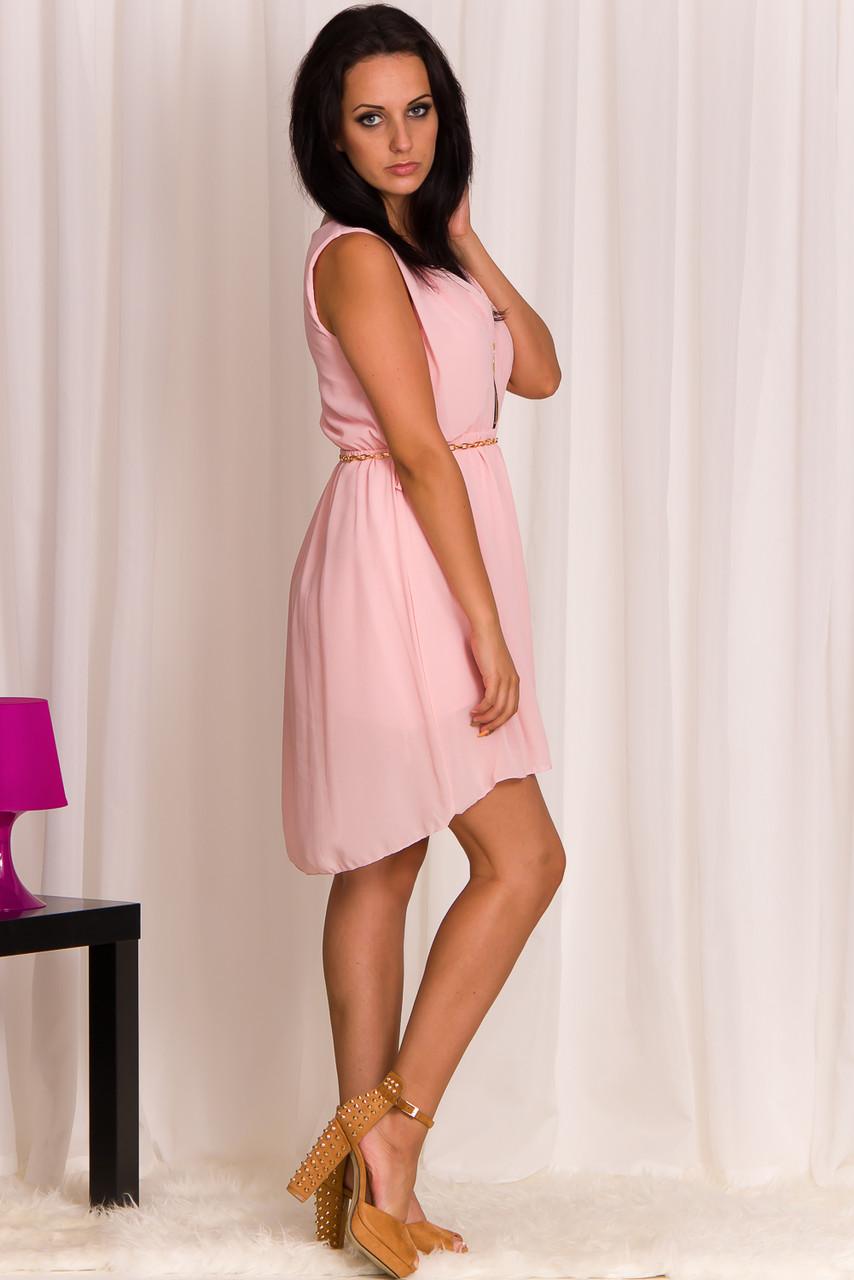 Letní šaty se zipy světle růžové - Glamorous by Glam - Šaty - Dámské ... e27c2eb09a