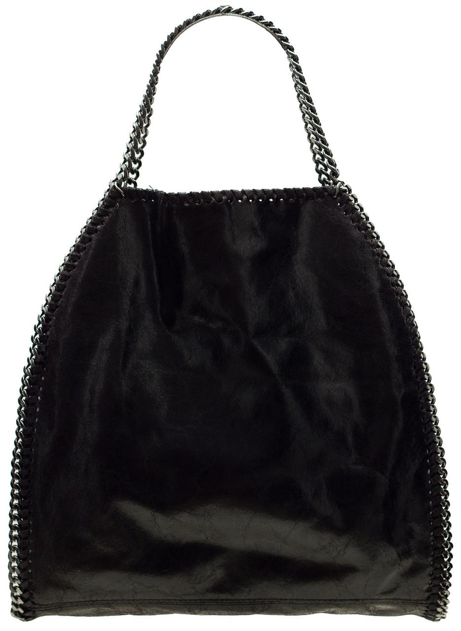 Glamadise.sk - Kožená kabelka čierna s retaze - Glamorous by GLAM ... bdb10f40e49