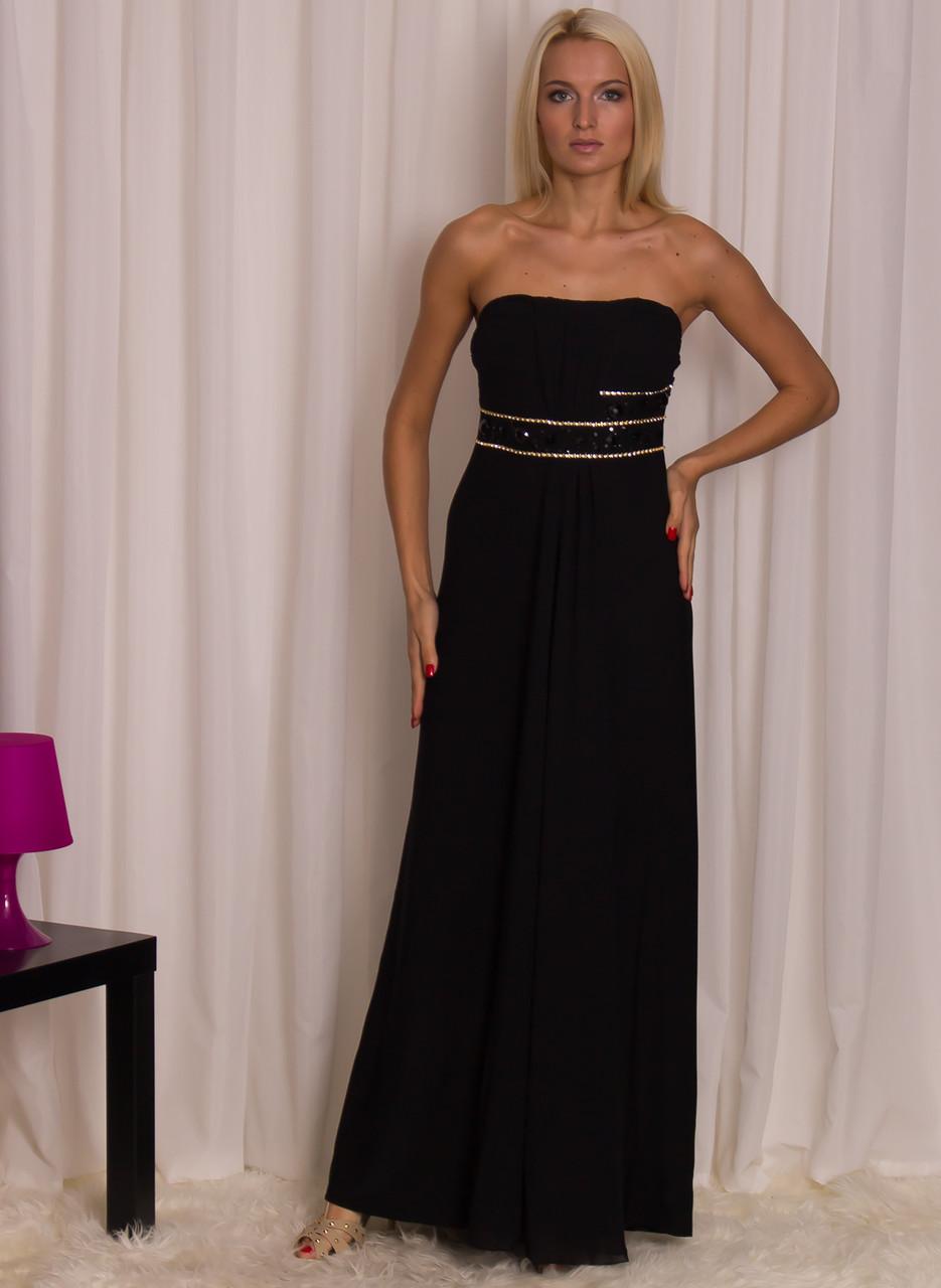 2eed269129 Glamadise.sk - Spoločenské dlhé šaty bez ramienok s kamienkami ...